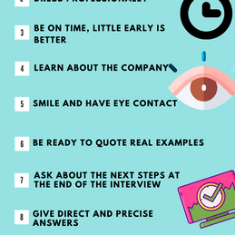 Top 12 Do's of a job interview