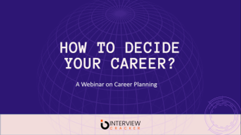 How to Decide your Career?