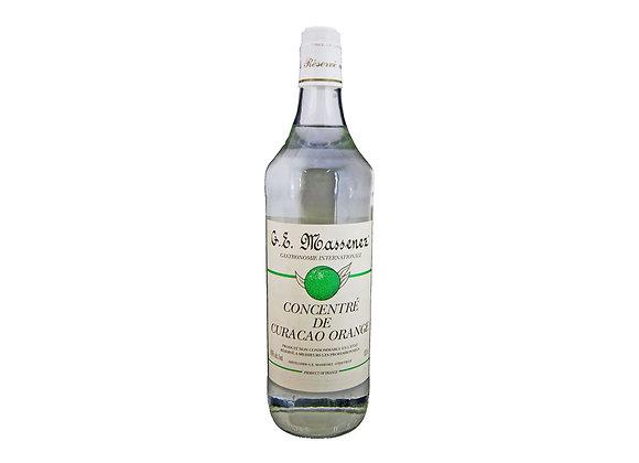 """Curaçao Orange Extract 60% alcohol 1lt bottle """"MASSENEZ"""""""