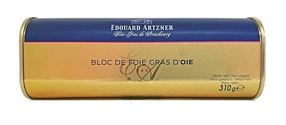 "Block of Goose Foie-gras Trapeze ""Edouard Artzner"""