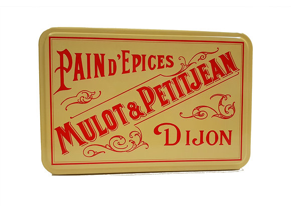 "Gift Metal Box Assortment of Nonnettes ""Mulot Petitjean"""