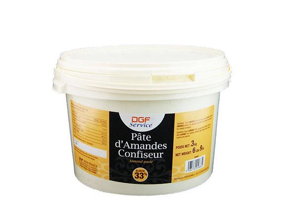 """Almond Marzipan 33% White 3kg """"DGF"""""""