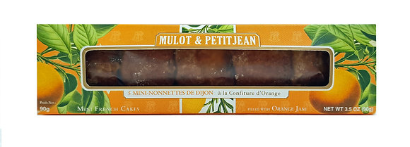 "Mini-Nonnettes filled with Orange Jam ""Mulot Petitjean"""