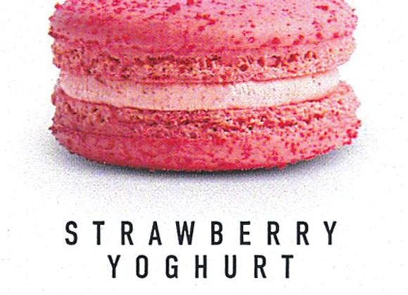Macaron Strawberry Yoghurt