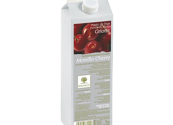 "Morello Cherries Purée Elopak 1kg ""RAVIFRUIT"""