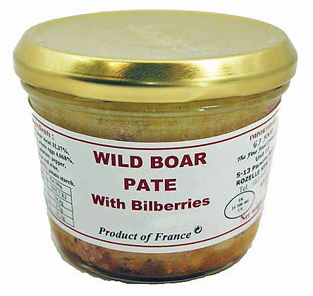 "Wild Boar Paté with Bilberries ""Danos"""