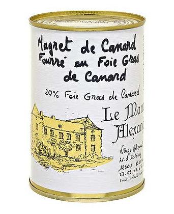 "Jar of Duck Breast stuffed with 20% Foie Gras ""LE MANOIR ALEXANDRE"""
