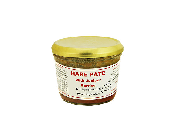 "Hare Paté with Juniper Berries 180g jar ""DANOS"""