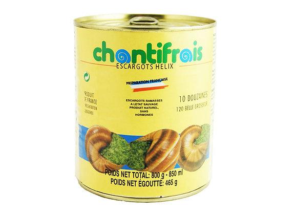 "Snails Helix Lucorum 10 dozen ""Chantifrais"""
