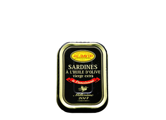 "Vintage Sardines in Olive Oil 115g ""JC David"""