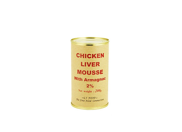 "Poultry Liver Mousse with Armagnac 200g tin ""DANOS"""