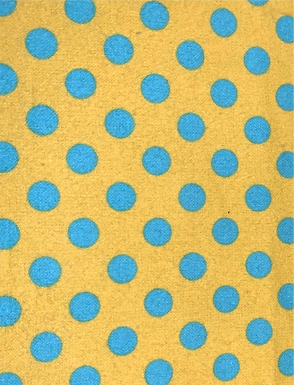 Polka Dots Teal and Yellow