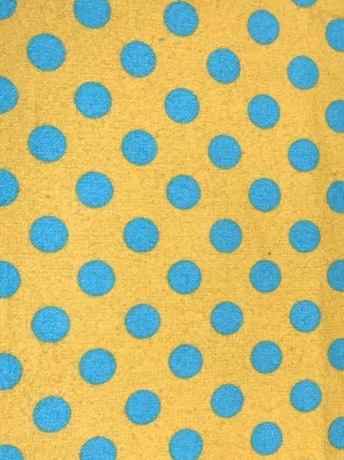 Polka Dots Teal and Yellow
