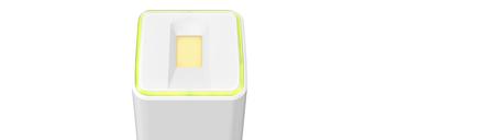 LED Lichtrahmen für Zustands- und Aktivitätsanzeige.