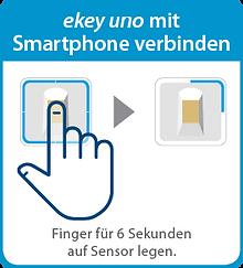 ekey_uno_fingerprint_mit_smartphone_verb