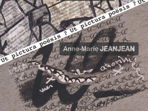 Ut pictura poësis ? Alain Robinet & Anne Marie Jeanjean - Expositon du 18 mars au 2 avril 2017