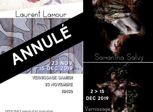 Exposition annulée en novembre, décembre...