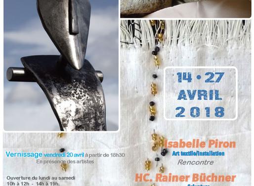Isabelle Piron rencontre HC Rainer Büchner avec la participation de Pierre Bouat. Art textile, insta