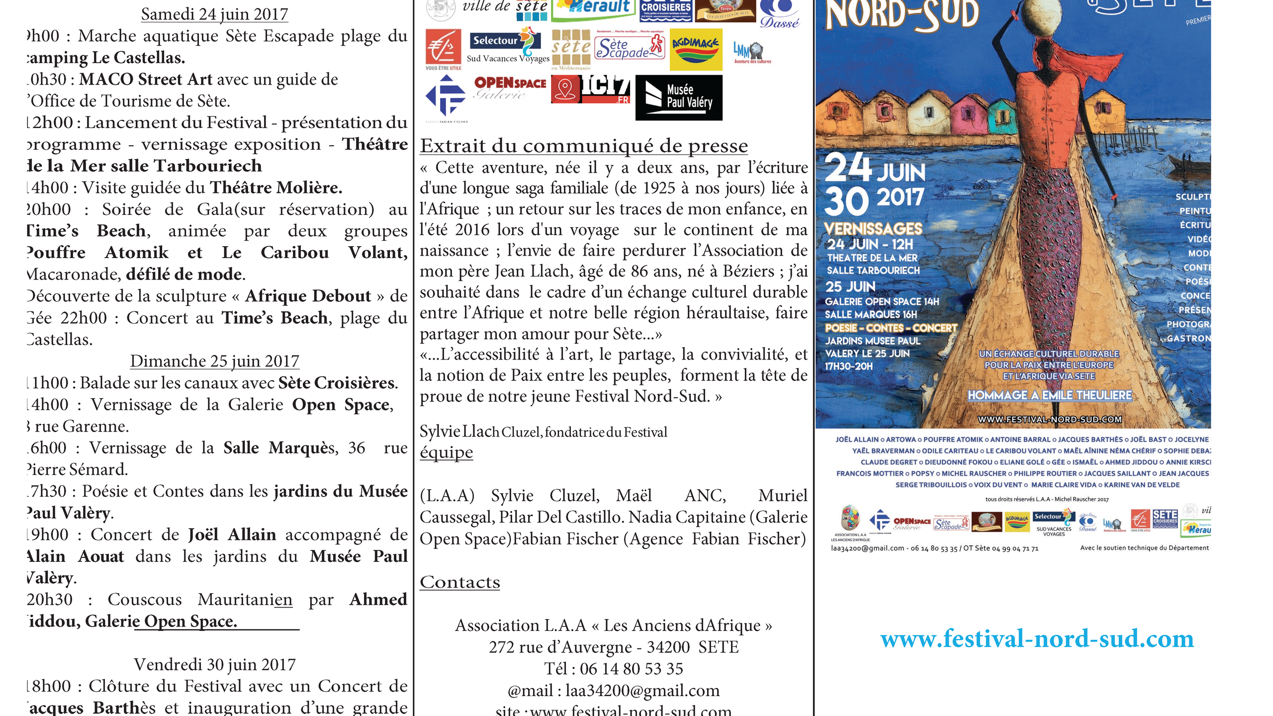 Programme Festival Nord Sud 2017