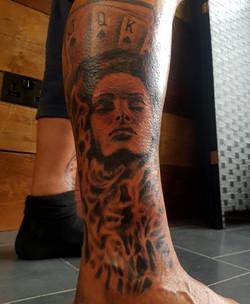 Woman-Portrait-Smoke-Leg-Piece