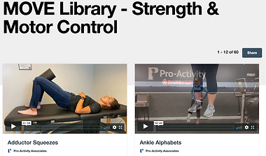 Pro-Activity MOVE Strength and Motor Control Video Playlist