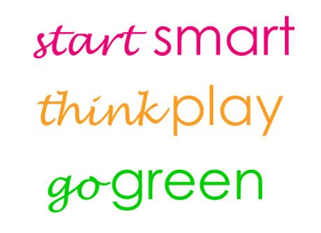 start smart think play go green block.pn
