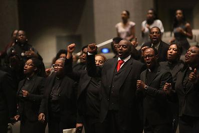 Leaders praising God during UFAP2018