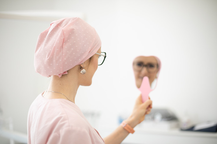 Calot de bloc chirurgical Fil à fil Jacquard X Pink
