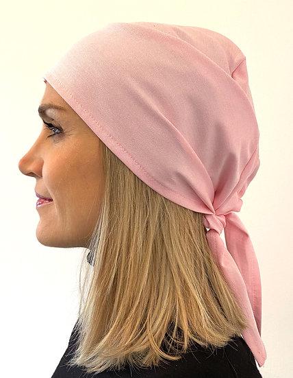 Calot de bloc chirurgical Oxford rose cheveux laches