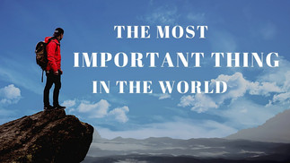 THE MOST IMPORTANT THING IN THE WORLD