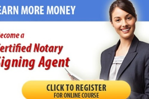 Notary Loan Signing Agent - ONLINE Course