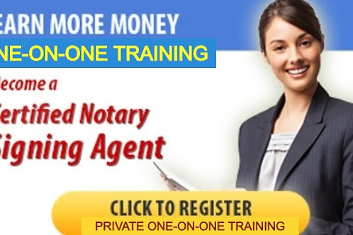 Notary Loan Signing Agent -ONE-ON-ONE