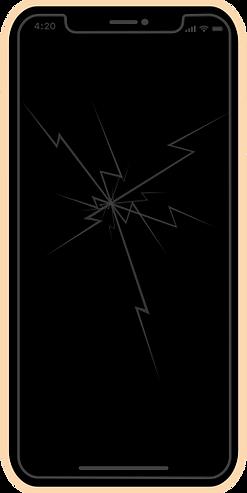 iphone xr zbita szybka wyświetlacz wymian naprawa apple lodz fixme