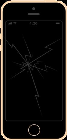 iphone 5s zbita szybka ekran wyświetlacz wymiana naprawa apple fixme lodz