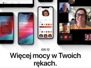 iOS 12 gotowy do pobrania o 19:00!