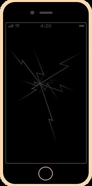 iphone 6s wymiana szybki zbita szybka naprawa serwis apple fixme lodz łódź