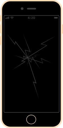iphone 6s plus zbita szybka wyświetlacz uszkodzony wymiana naprawa serwis apple fixme lodz