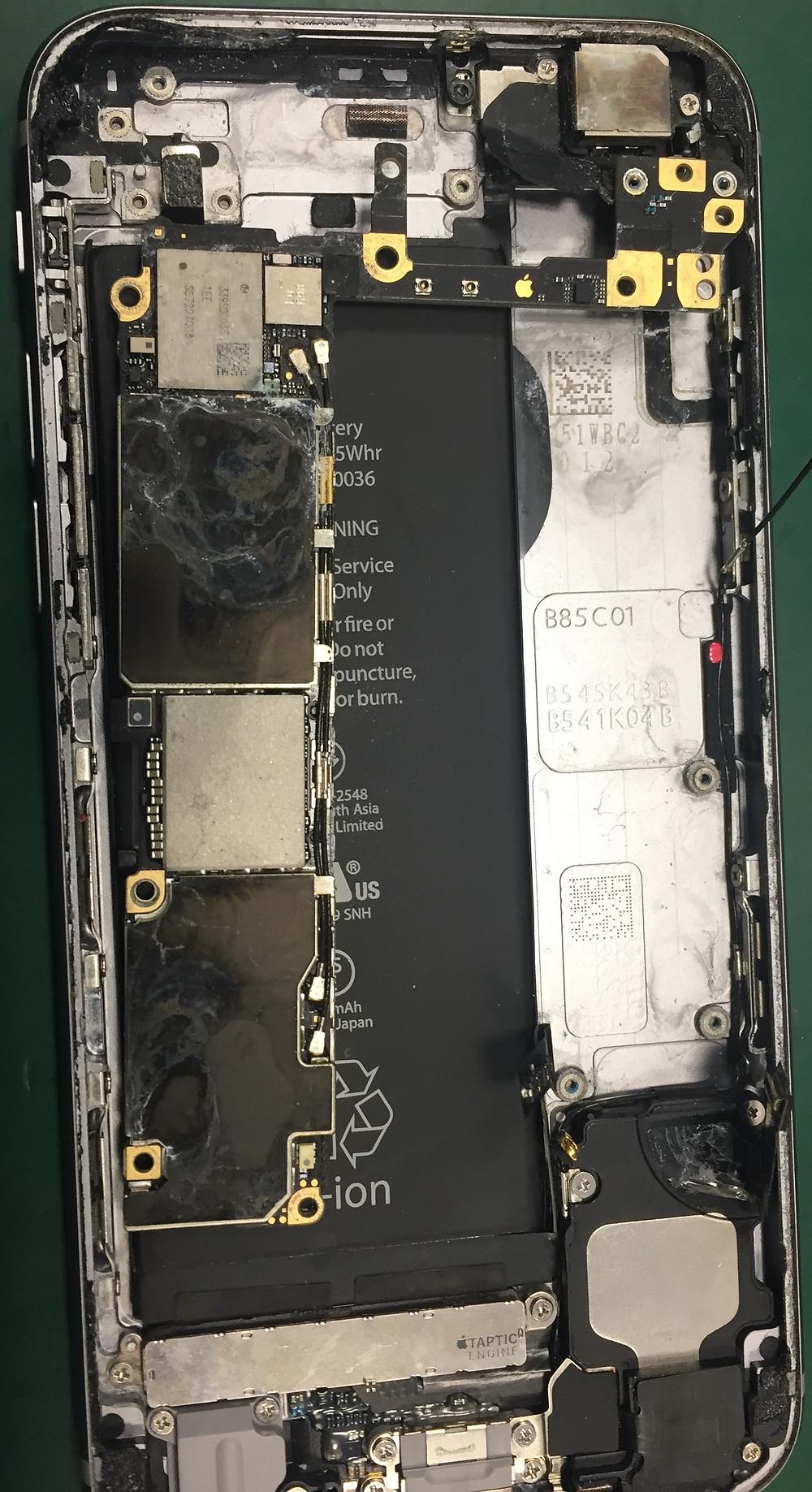 Czyszczenie po zalaniu iPhone FixMe serwis Apple Łódź