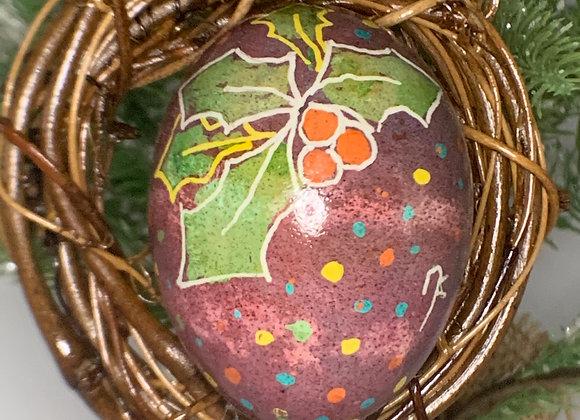 Exquisite egg -Protected Pysanky holly and peace