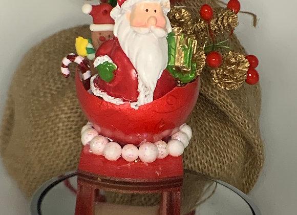 Exquisite egg - Folksy Santa's sleigh