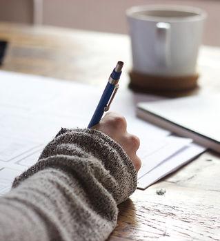 Schrijven met hand