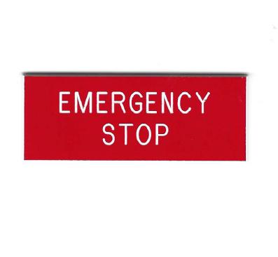 Emergency Stop Legends