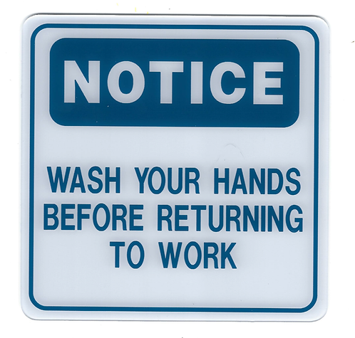 Before Returning to Work Sign