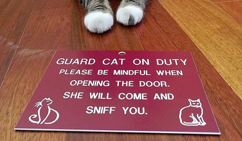 Guard Cat/Dog Hanging Plaque