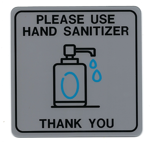 Hand Sanitizer Sign