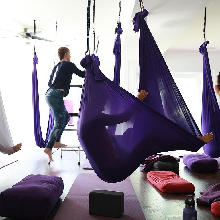 Restorative Aerial Yoga + Thai Massage