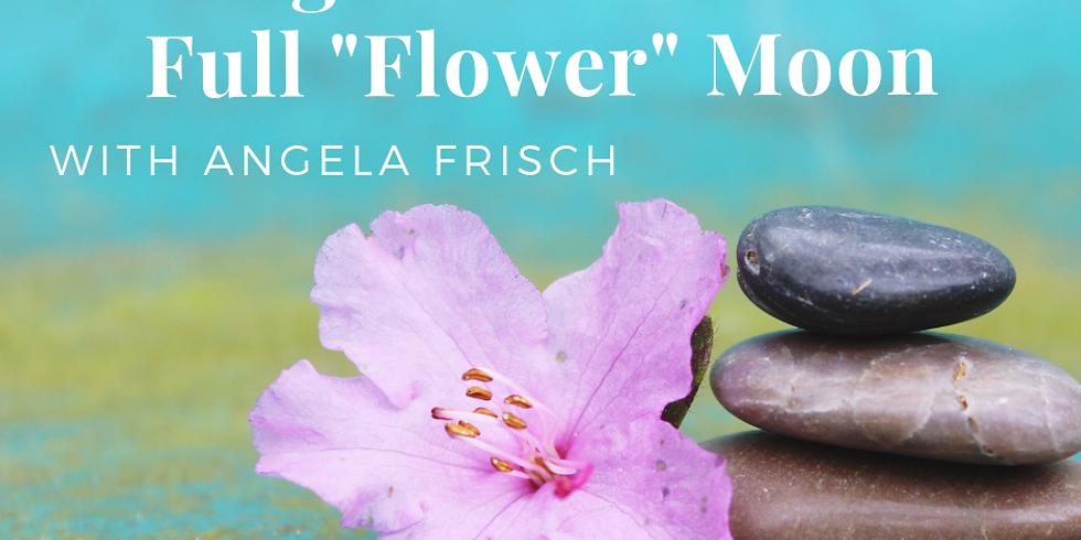 """Yoga Nidra with Full """"Flower"""" Moon Art"""