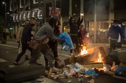 Protestas contra el Toque de queda en Madrid