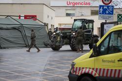 La U.M.E en el Gregorio Marañón, Madrid.