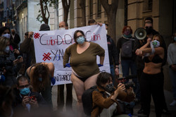 Protesta de sanitarios en Madrid durante la Pandemia.